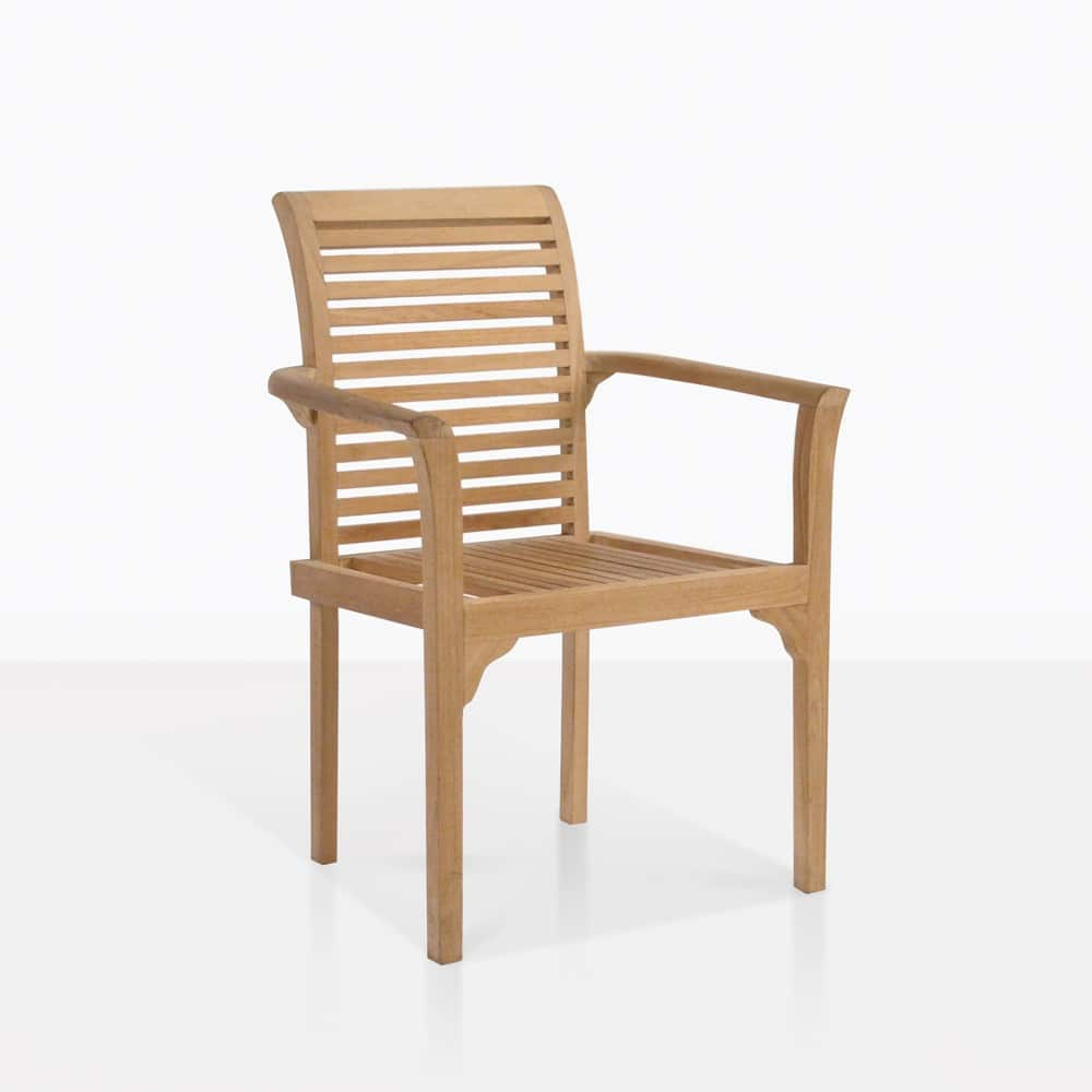 Stacking Dining Chairs Treviso Stacking Teak Dining Chair