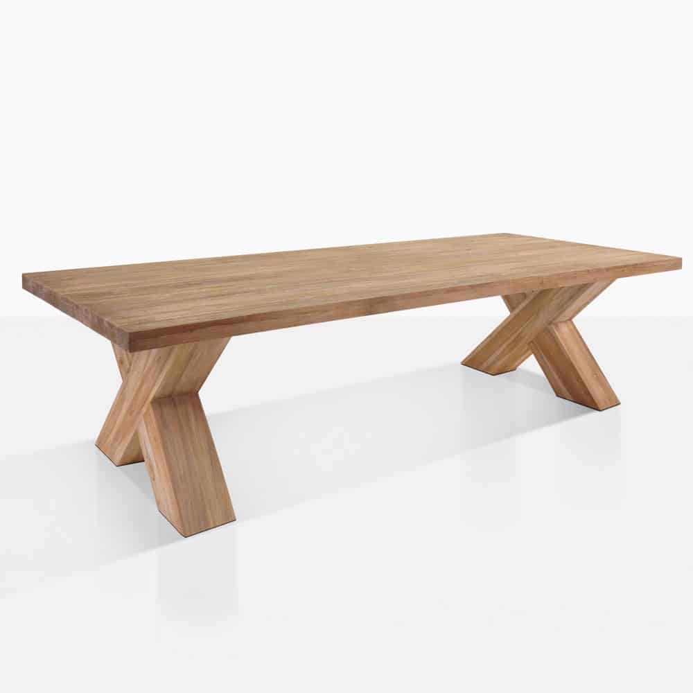Cross Reclaimed Teak Outdoor Dining Table  Teak Warehouse
