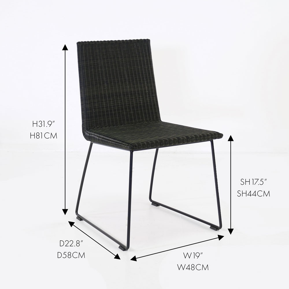 Retro Outdoor Dining Chair Restaurant Patio Seating