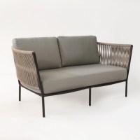 Rope Outdoor Loveseat | Wicker Furniture | | Teak Warehouse