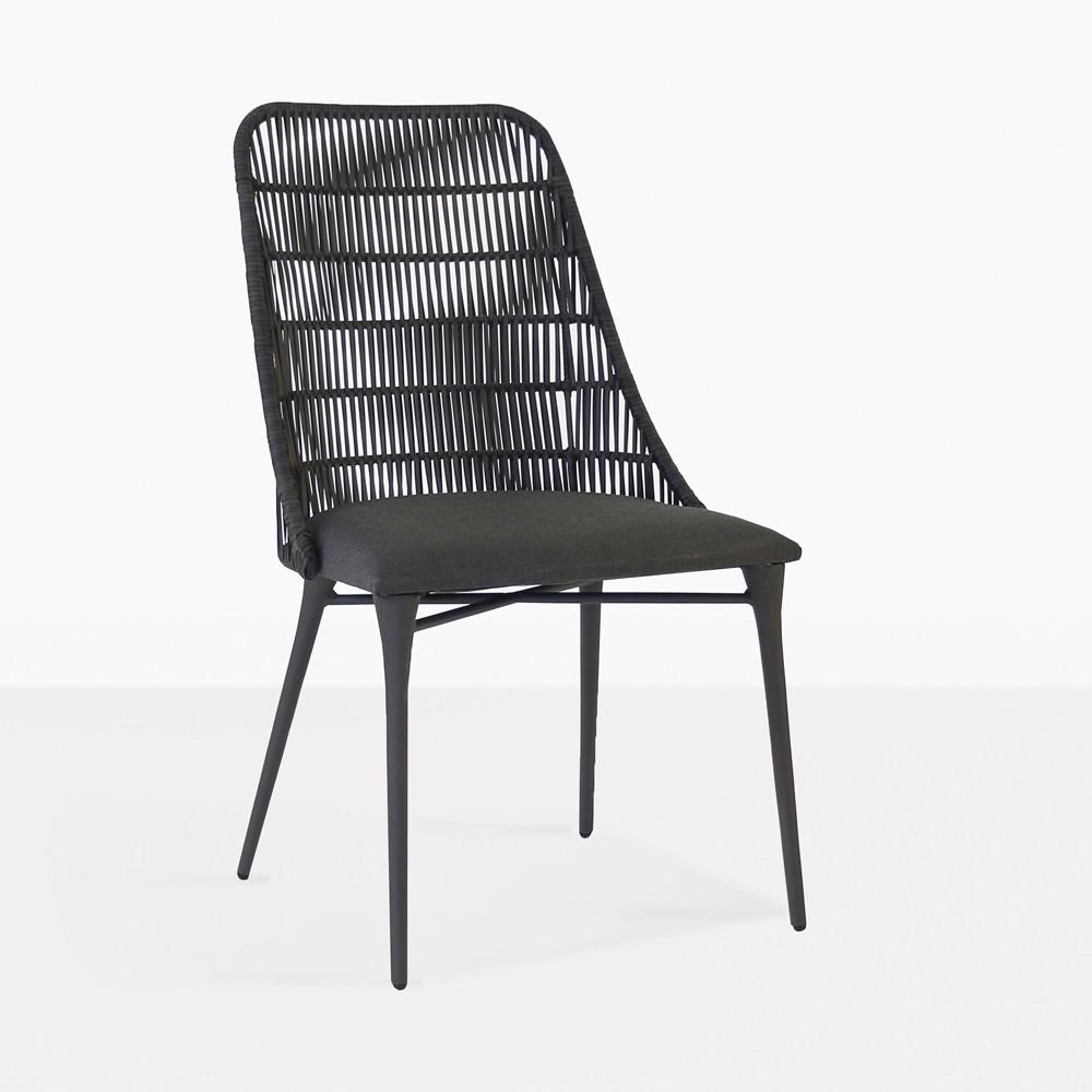 Morgan Outdoor Wicker Dining Chair Cocoa  Teak Warehouse