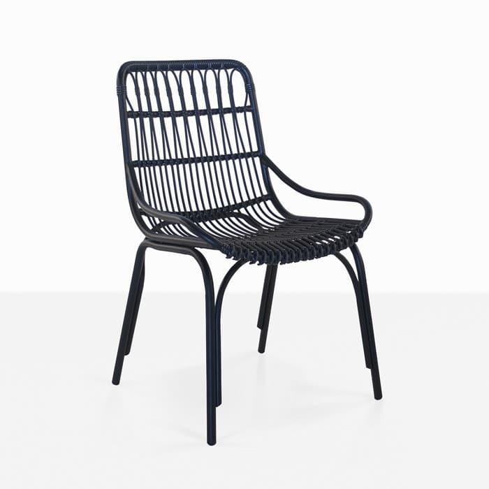 Sydney Outdoor Wicker Dining Chair Black  Teak Warehouse