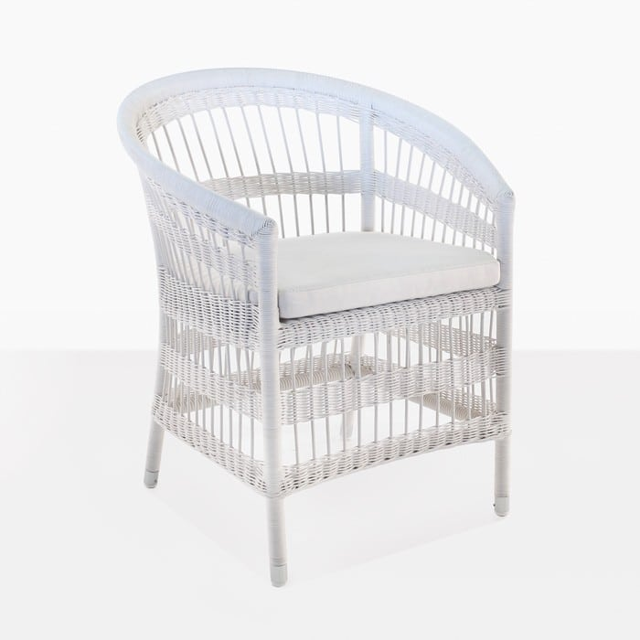 Sahara Wicker Dining Chair (White)