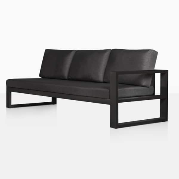mykonos outdoor sectional sofa left arm charcoal