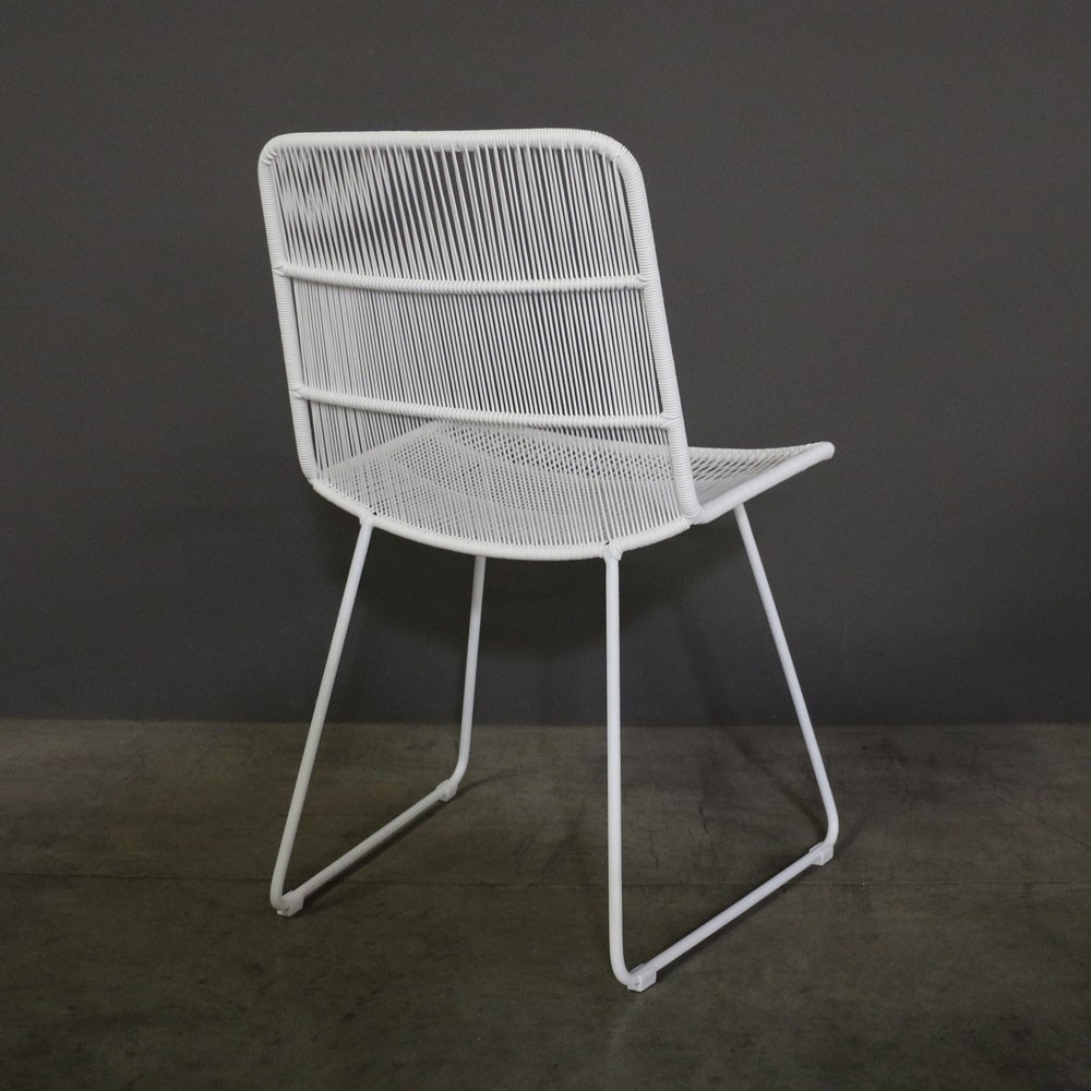 Nairobi Woven Dining Side Chair in White  Caf Seating