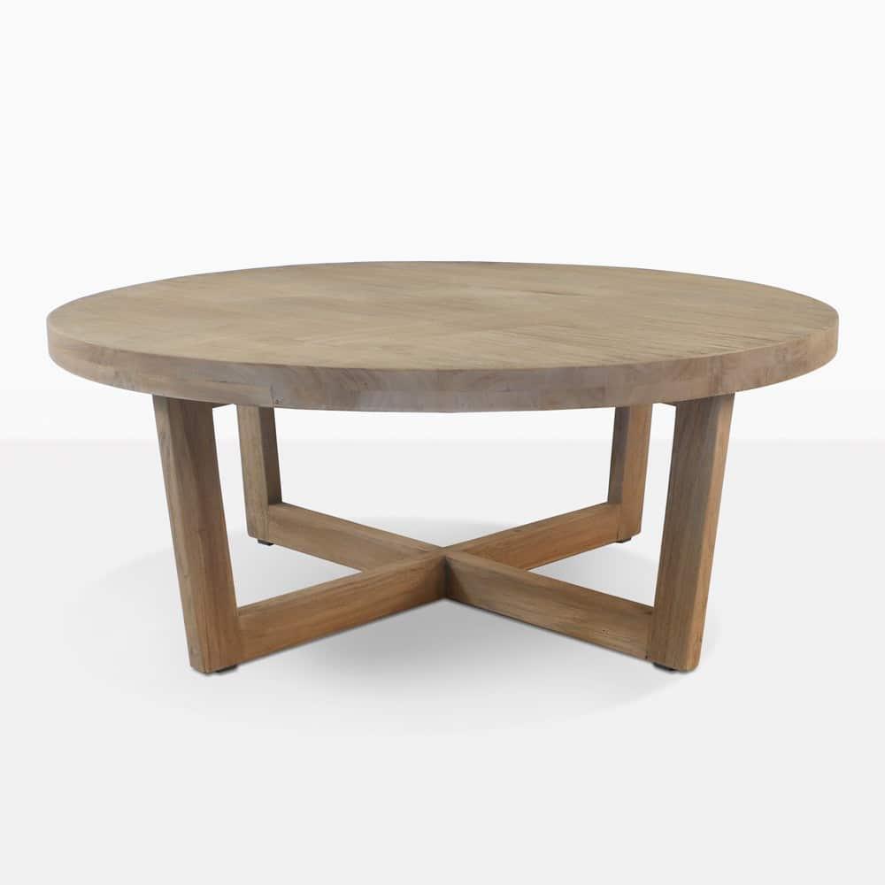 coco teak outdoor coffee table honey