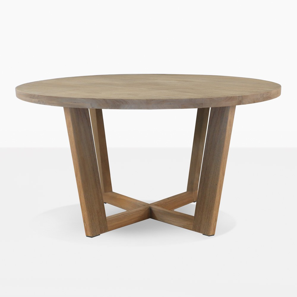 Coco Teak Round Outdoor Dining Table  Patio Furniture
