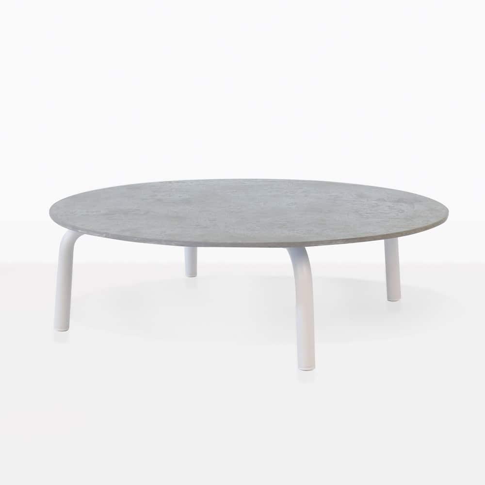 teak outdoor coffee table round