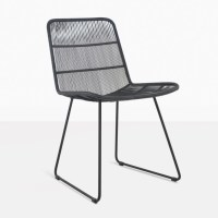 Nairobi Woven Black Dining Side Chair | Outdoor Wicker ...