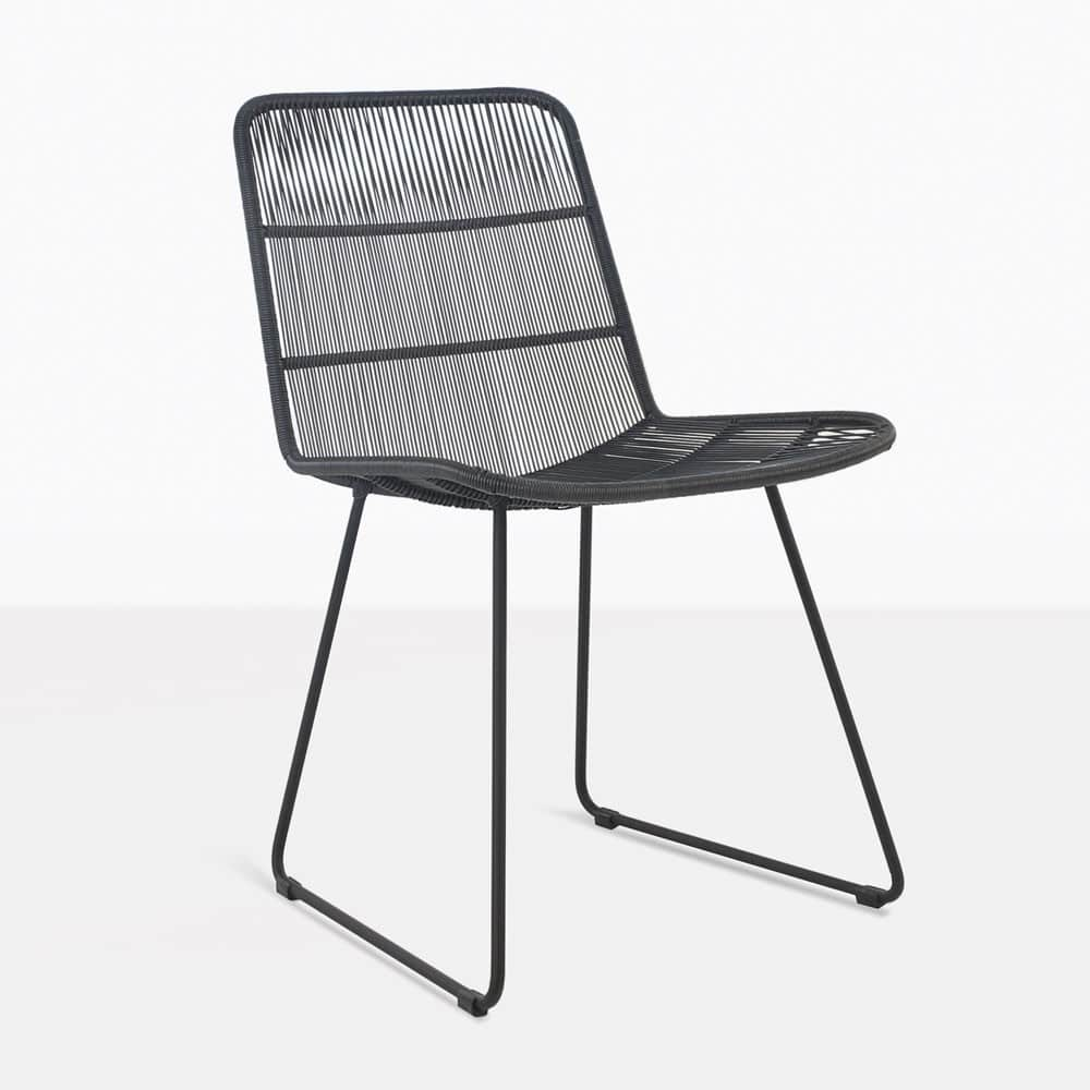 Woven Dining Chair Nairobi Woven Dining Side Chair Black