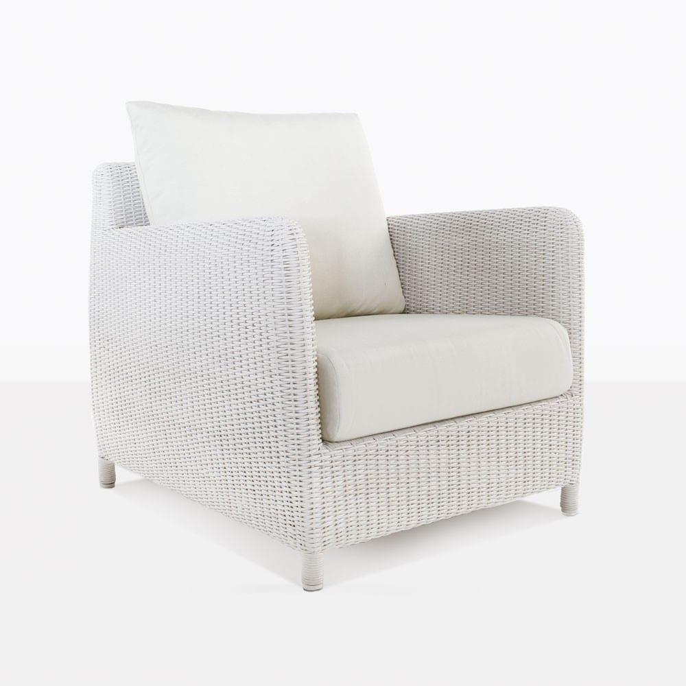 Valhalla Outdoor White Wicker Club Chair