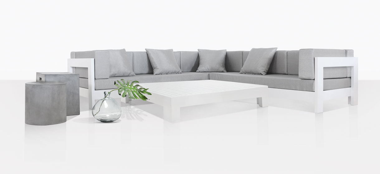 coast aluminum white outdoor lounge