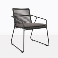 Pierre Black Outdoor Rope Dining Chair | Patio Seating ...