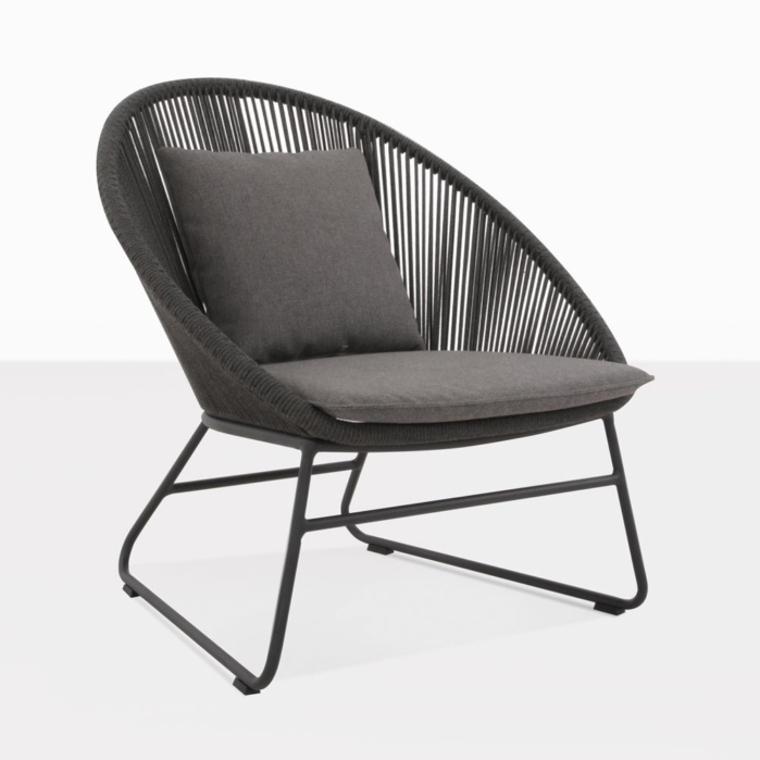 toga outdoor lounge chair vertical weave