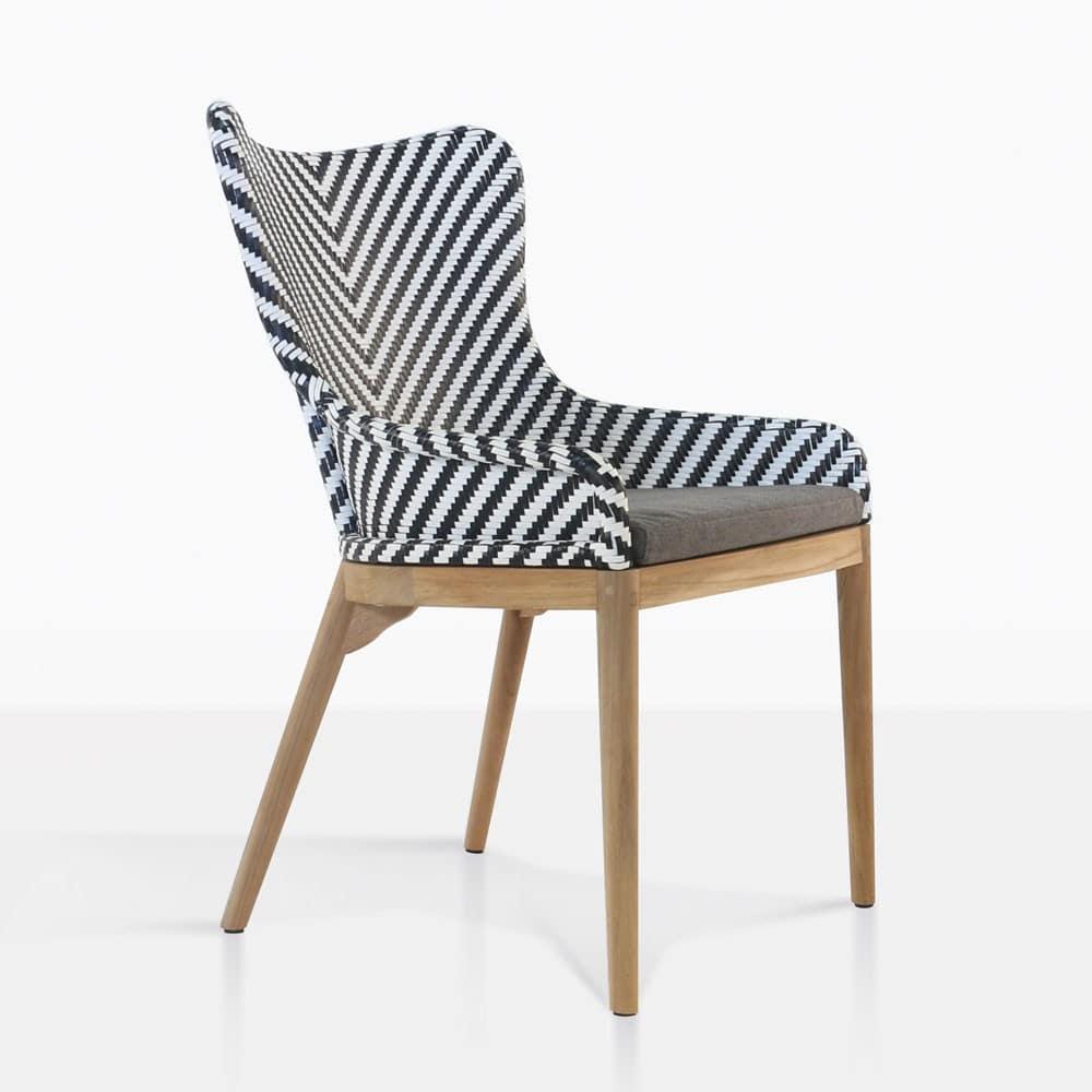 Bugg Outdoor Dining Chair  Wicker Patio Furniture  Teak