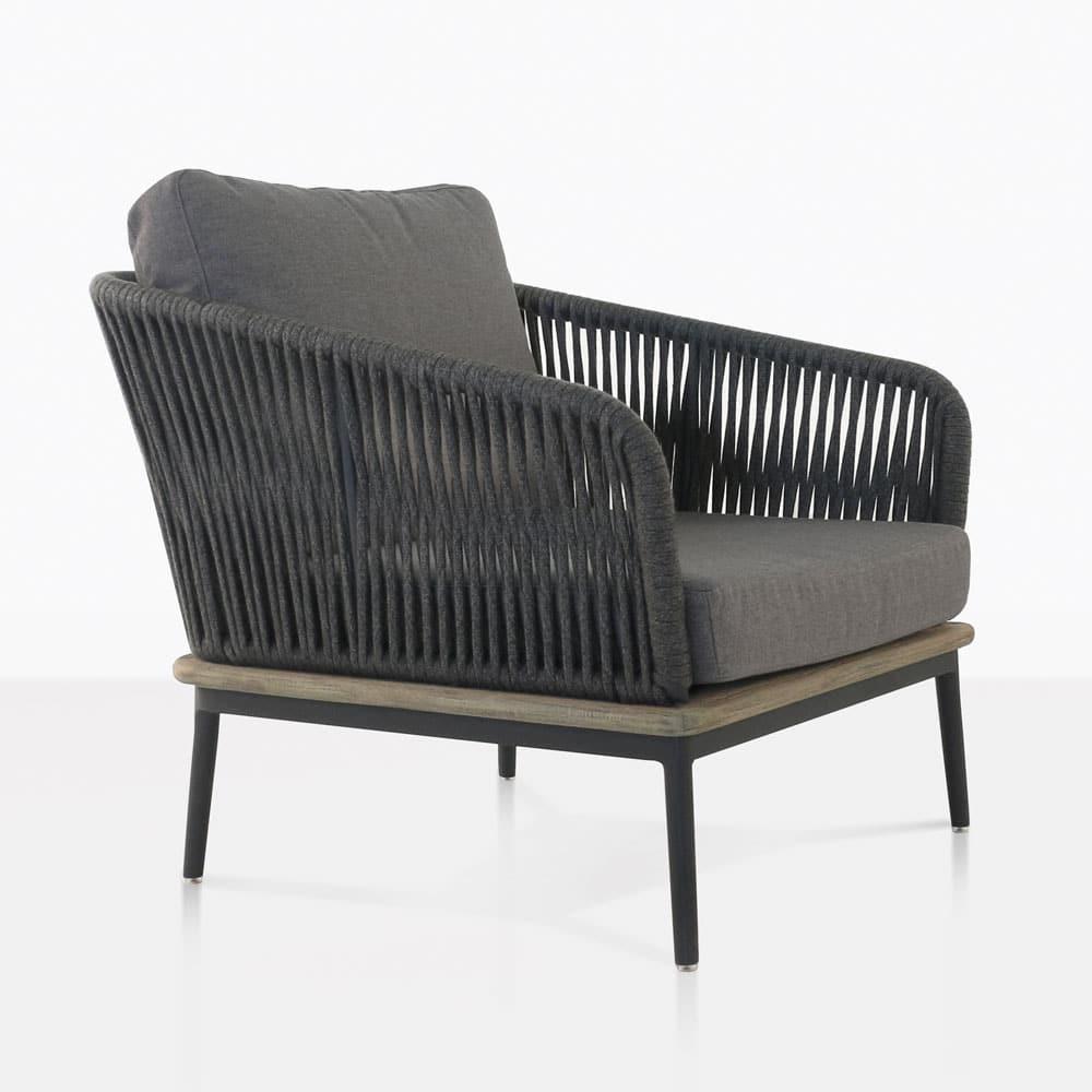 Oasis Grey Outdoor Club Chair Coal  Patio Furniture