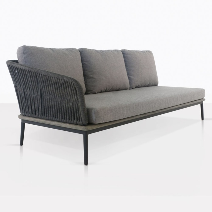oasis outdoor sectional right sofa fog