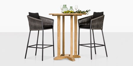 outdoor table and chairs wood dark folding teak warehouse wicker furniture patio bar