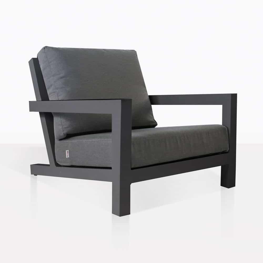 granada aluminum outdoor club chair charcoal