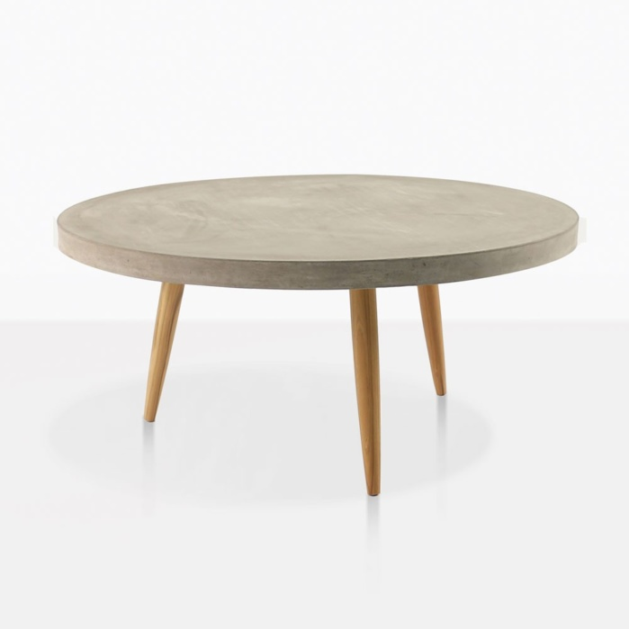 aspen blok concrete round coffee table large