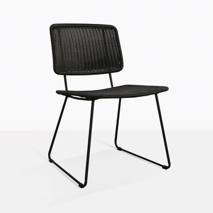 black side chair cheap table and covers for parties polly wicker dining outdoor furniture teak warehouse