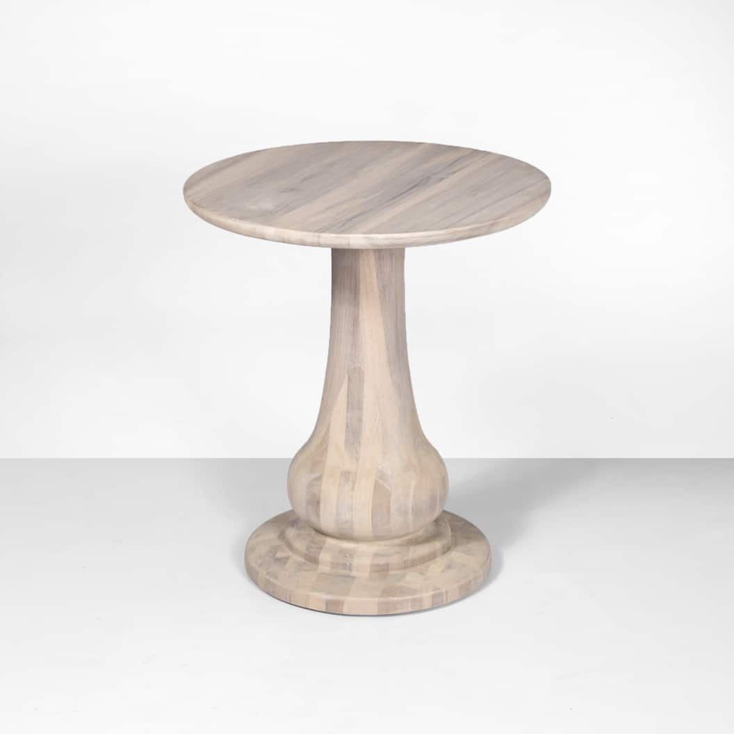 sumartra tall outdoor reclaimed teak side table