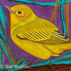 Yellow Warbler - 12x12 on Masonite