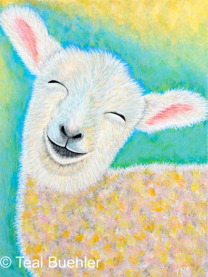 Lamb - 9 x 12 Acrylic on Canvas