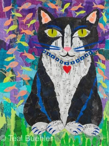Tuxedo Dreams - 12x16 on Canvas Board
