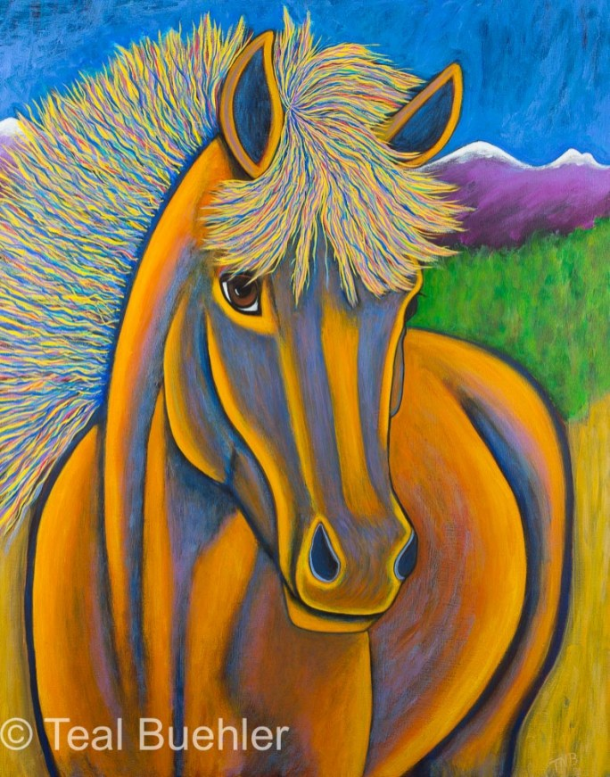 Horse - 22 x 28 Acrylic on Canvas