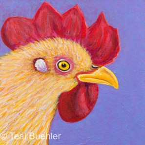 Hen - 5x5 Acrylic on Masonite