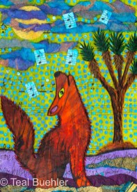 Coyote Song – 5x7 collage
