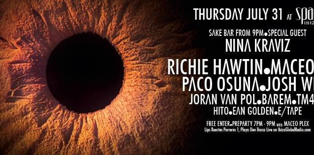 "LIVE Richie Hawtin's ""ENTER"" from Space Ibiza WEEK#5"