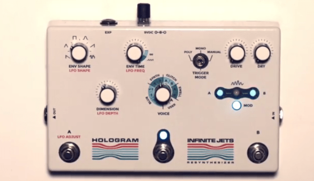 TECHNOLOGY Tuesday #40: Infinite Jets Resynthesizer (guitar pedal) by Hologram Electronics