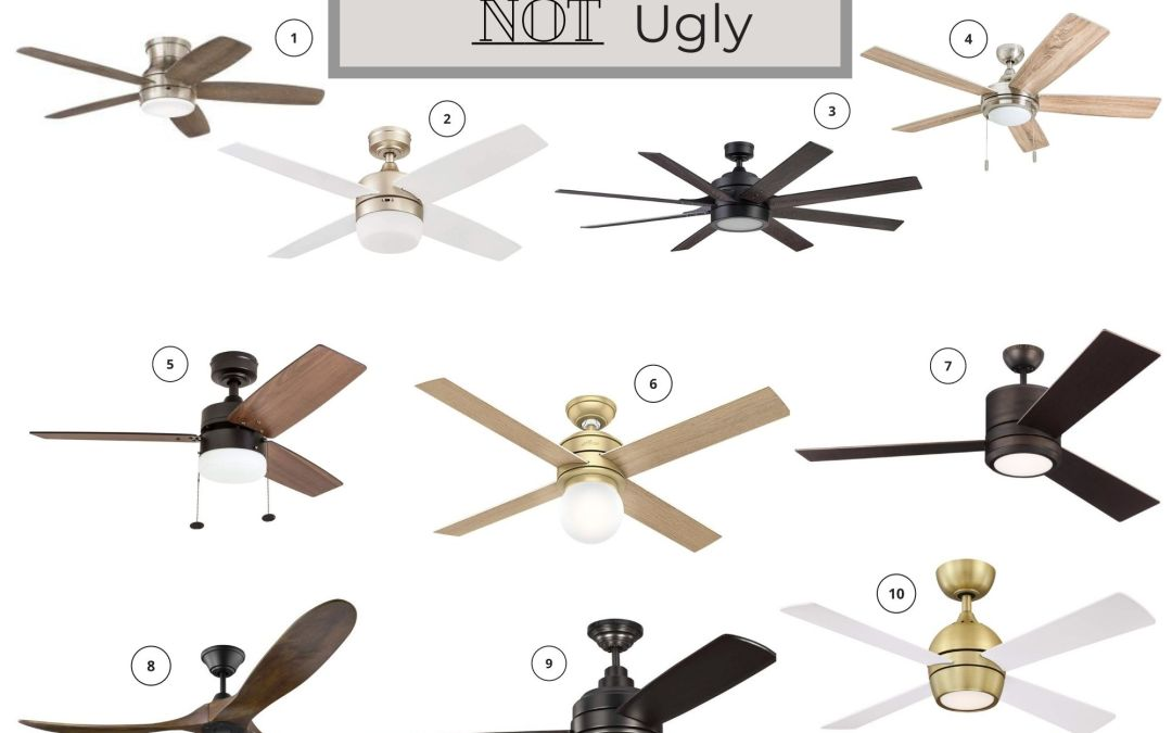 10 Ceiling Fans that are Not Ugly