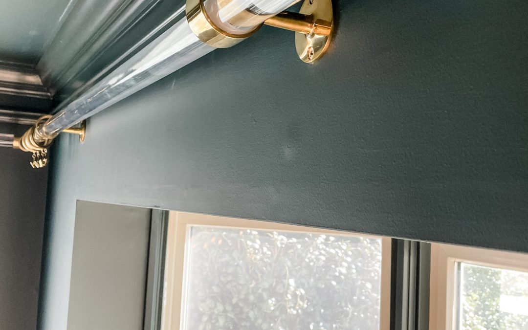 DIY Acrylic Curtain Rods (with Material Sources)