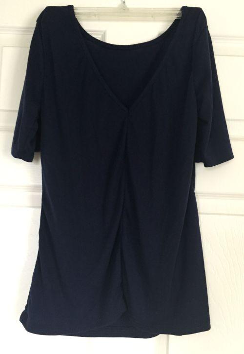 Market & Spruce Gwendolen V-Back Knit Shirt