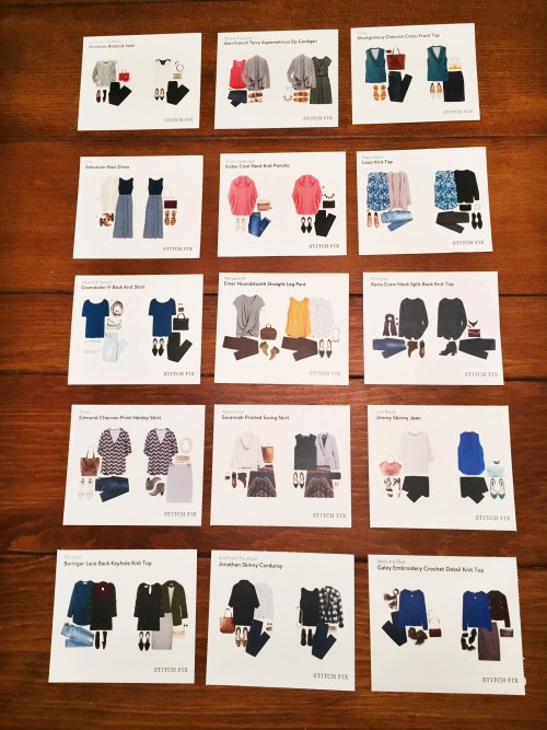 Stitch Fix Style Idea Cards