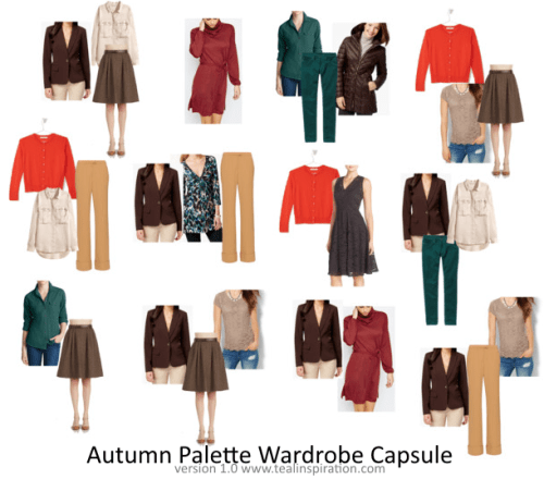 Autumn Color Palette Wardrobe Capsule