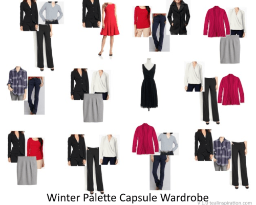 Winter Color Palette Wardrobe Capsule