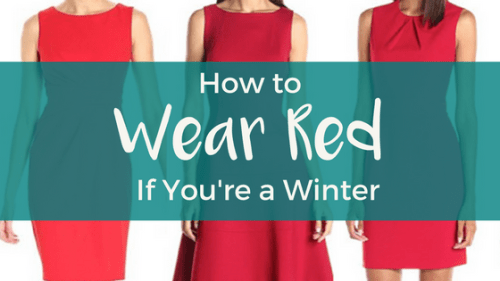 How to Wear Red if You're a Winter