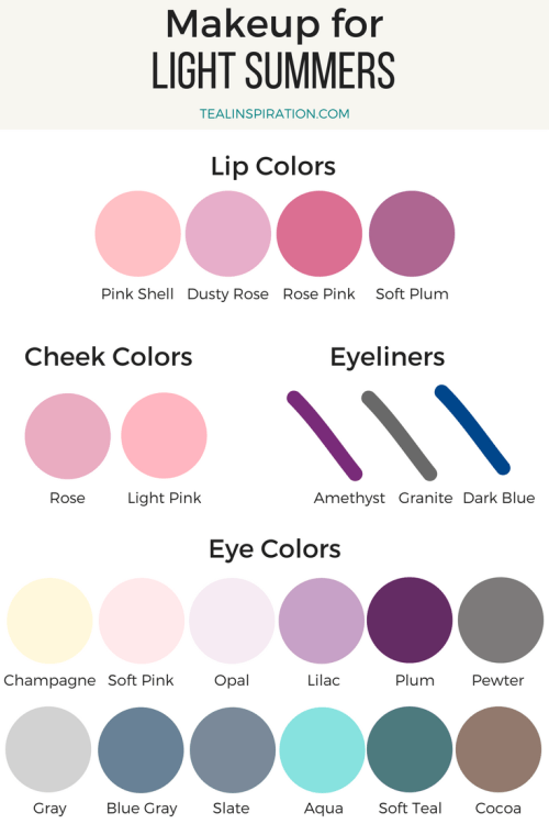 Light Summer Makeup Colors