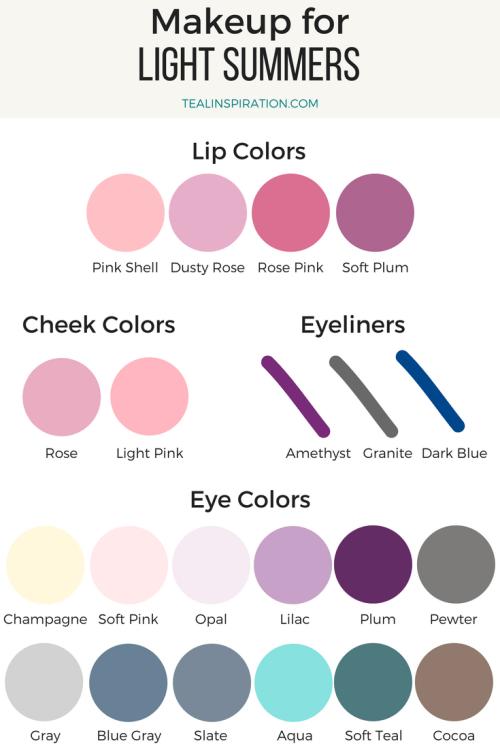 Light Summer Makeup Colors