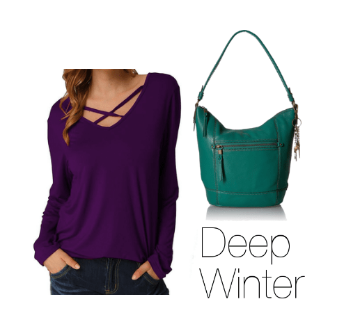 Deep Winter How to Wear Purple
