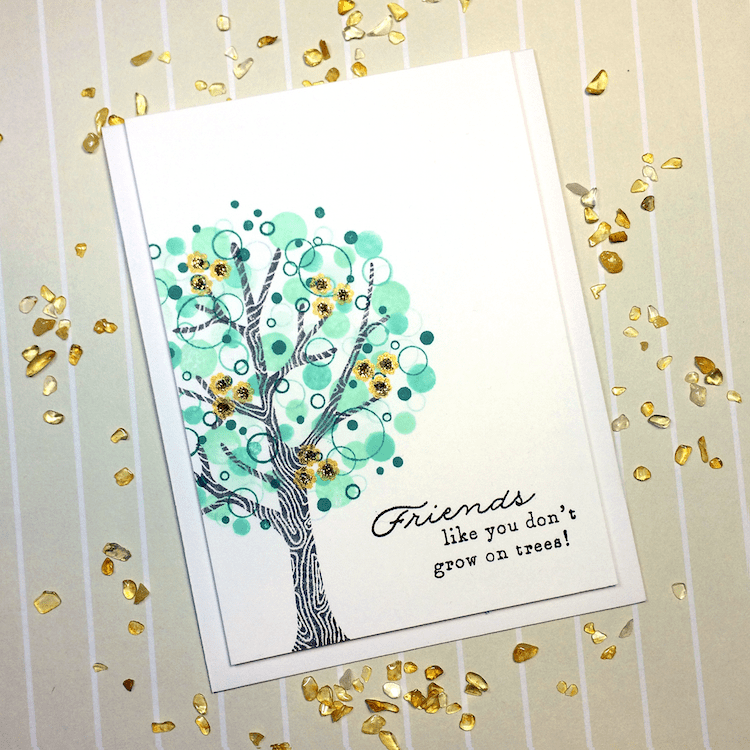 Making a Card with the Confetti Stamping Technique. Grab a set of circle stamps, pencil erasers, or pen caps and create beautiful designs!