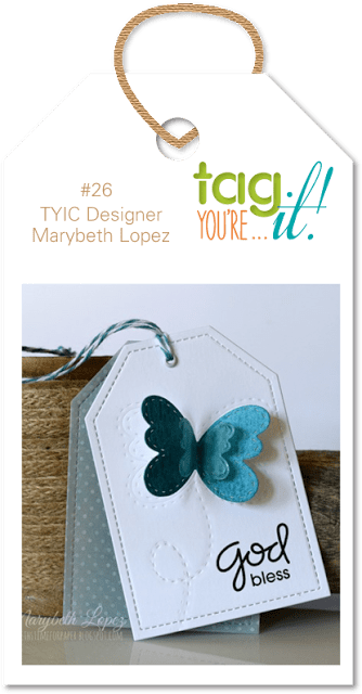 Floral Tag Inspiration Piece from Tag You're It!