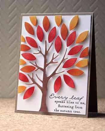 Die Cut Dimensional Autumn Tree