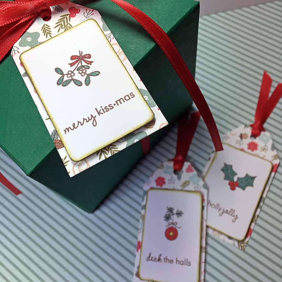Papertrey October Blog Hop Challenge: Tiny Christmas Tags