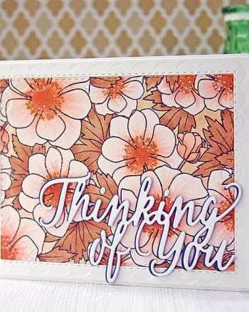 Papertrey August Blog Hop Challenge: Masked Florals