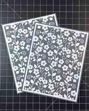 How to Make a Pretty White Foiled Flower Background